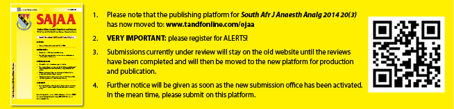 Please register for alerts on our new web platform at www.tandonline.com/ojaa. Please submit new manuscripts on this website. Articles in review will move to the new platform, once accepted.